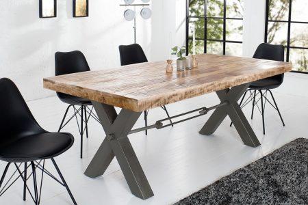 Jedálenský stôl Iron Craft 200cm Mango prírodná 70mm
