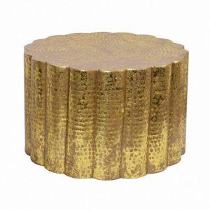 Konferenčný stolík Liquid Line 60cm hliník zlatá