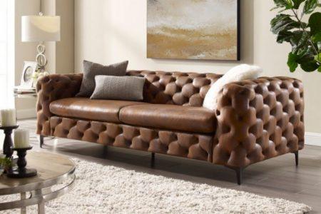 Sofa Modern Barock 240cm hnedá