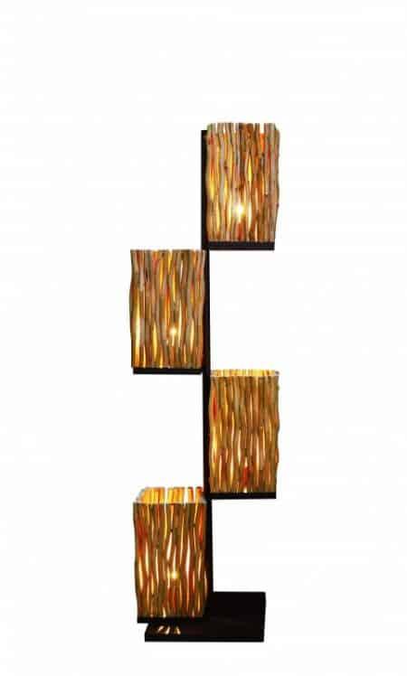 Stojanová lampa Euphoria 149cm Longan-drevo
