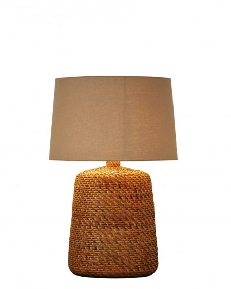 Stolová lampa Corinn 96cm ratan prírodná béžová