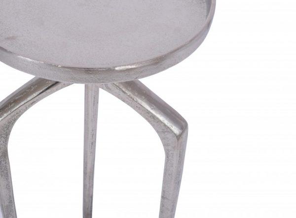 Konferenčný stolík Abstract set 2ks hliník strieborná