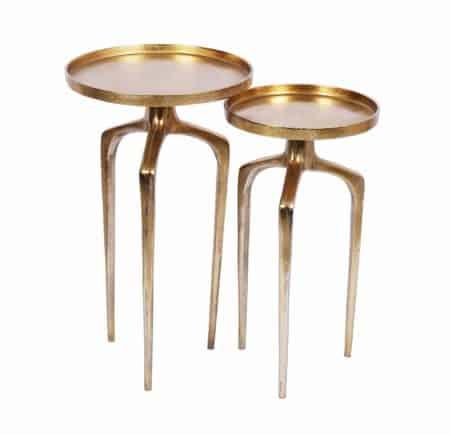 Konferenčný stolík Abstract set 2ks hliník zlatá