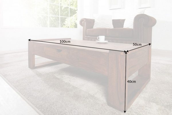 Konferenčný stolík Big Markant 100cm sheesham