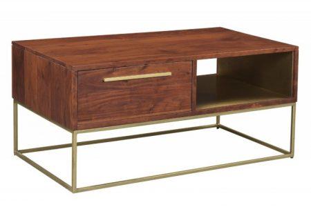 Konferenčný stolík Straight 110cm agát prírodná zlatá