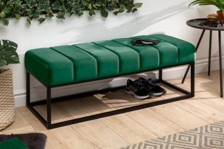 Lavica Petit Beaute 110 cm zamat smaragdzelená