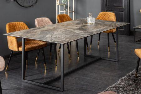 Jedálenský stôl Concord 200cm keramika taupe mramor-Optik