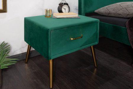 Nachttisch Famous zamat smaragdzelená