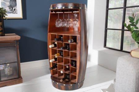 Regál na víno Bodega 97cm hnedý