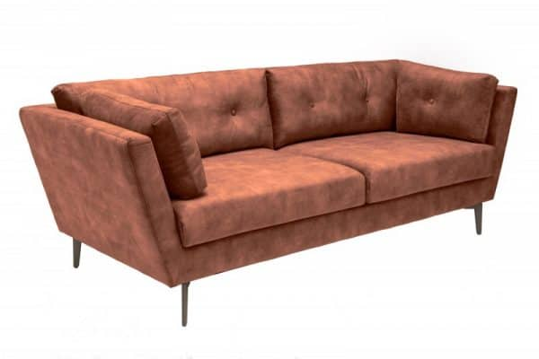 Sofa Marvelous 220cm antik rosthnedá zamat
