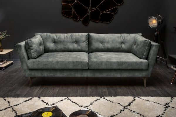 Sofa Marvelous 220 cm tmavozelená zamat