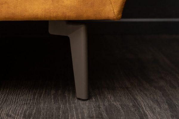 Sofa Marvelous 220cm senfžltá zamat