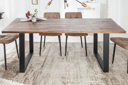 Jedálenský stôl Wotan II 160cm agát Teak šedý