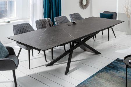 Jedálenský stôl Euphoria 180-220-260cm keramika Graphit-Optik