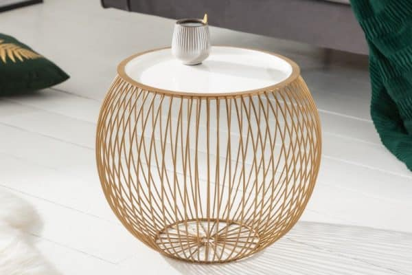 Konferenčný stolík Storage II 41cm zlatá biela