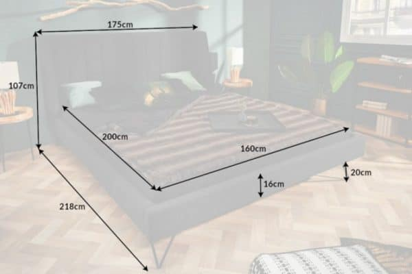 Posteľ La Beaute 160x200cm antracit
