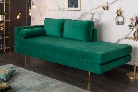 Pohovka Diva 196 cm zamat smaragd zelená