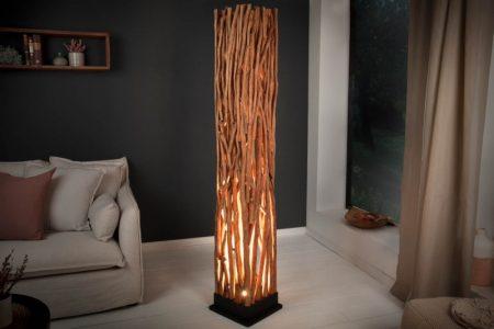 Stojanová lampa Nature Art 175cm Longan-drevo
