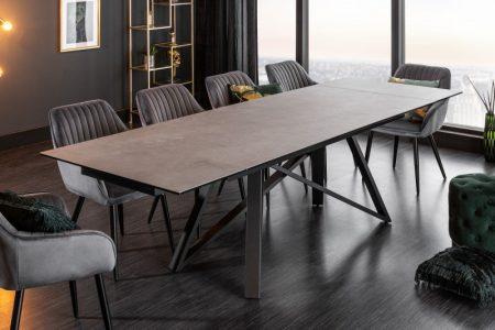 Jedálenský stôl Atlas 180-220-260cm betón-Optik keramika