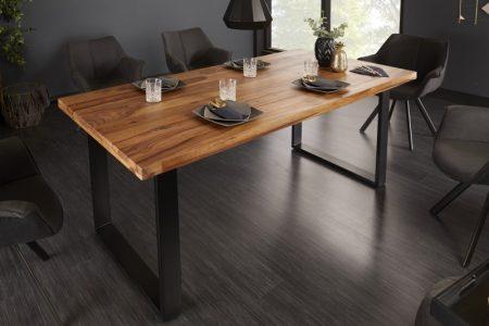 Jedálenský stôl Iron Craft II 160cm sheesham 45mm