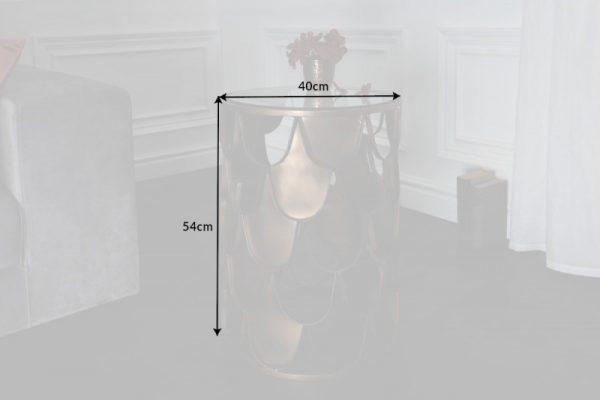 Konferenčný stolík Abstract Fischschuppen Design 40cm
