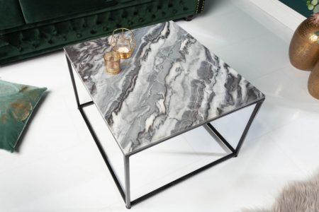 Konferenčný stolík Elements 50cm mramor sivá