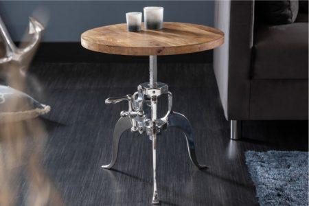 Konferenčný stolík Industrial 45-62cm Mango
