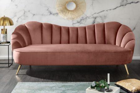 Sofa Arielle 220cm zamat altrosa