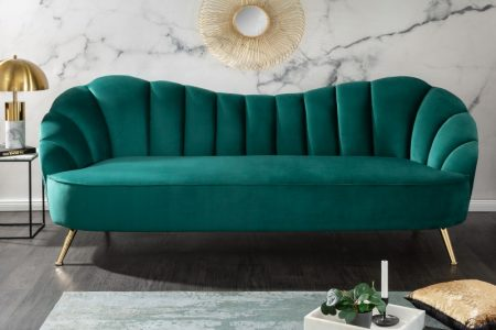 Sofa Arielle 220cm zamat tyrkysová