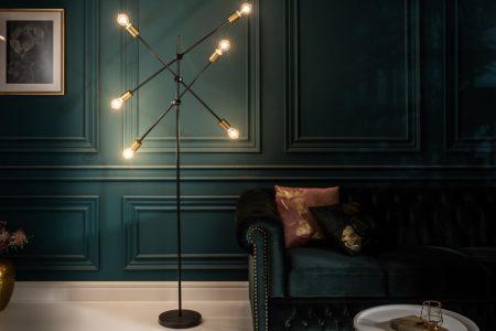 Stojanová lampa Variation čiernozlatá