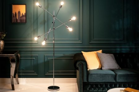 Stojanová lampa Variation strieborná