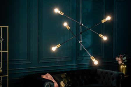 Závesná lampa Variation čiernozlatá