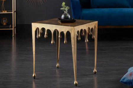 Konferenčný stolík Liquid Line L 50 cm zlatý