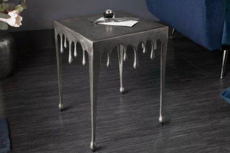 Konferenčný stolík Liquid Line S 44cm strieborný