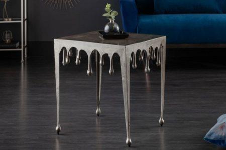 Konferenčný stolík Liquid Line L 50 cm strieborný