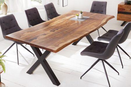 Jedálenský stôl Amazonas X 200cm prírodná sheesham