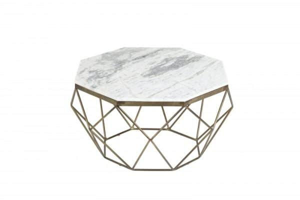 Konferenčný stolík Diamond 69cm mramor biela