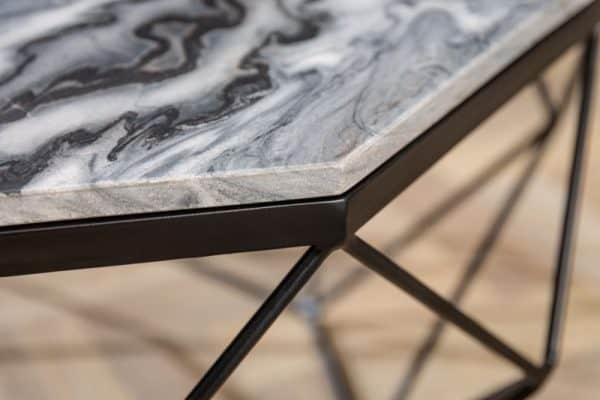Konferenčný stolík Diamond 69cm mramor sivá