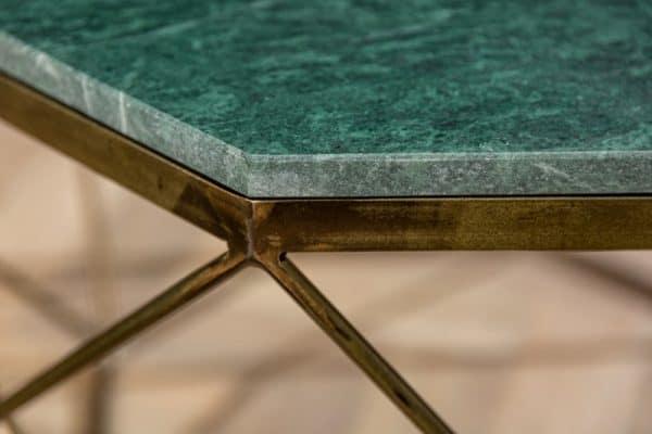 Konferenčný stolík Diamond 69cm mramor zelená