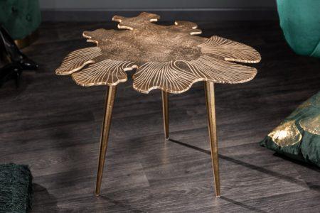 Konferenčný stolík Leaf 57cm zlatá