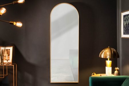 Nástenné zrkadlo Elegancia 170cm halbrund zlatá