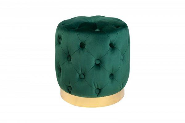 Taburet Modern Barock 35cm zelená zlatá