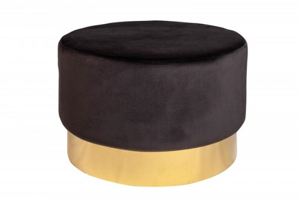 Taburet Modern Barock 55cm čiernozlatá