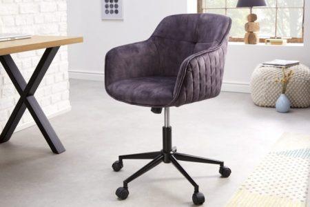 Kancelárska stolička Euphoria tmavá sivá zamat