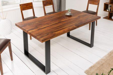 Jedálenský stôl Iron Craft II 180cm sheesham hnedá 45mm