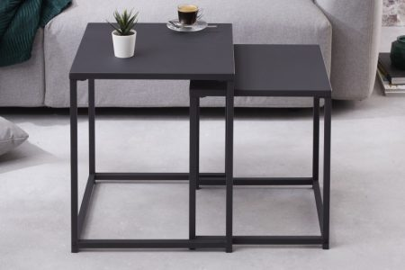 Konferenčný stolík Dura Steel set 2ks čierna kov