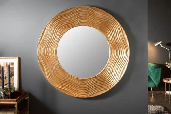 Nástenné zrkadlo Circle 100cm rund zlatá