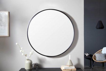 Nástenné zrkadlo Noemi 80cm rund čierna