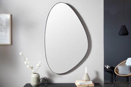 Nástenné zrkadlo Noemi 90cm asymmetrisch čierna