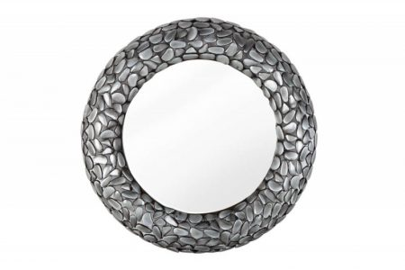 Nástenné zrkadlo Stone Mosaic sivá 80cm